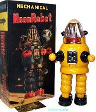 Robby the Robot Yonezawa design Moon Robot Tin Toy Windup YELLOW