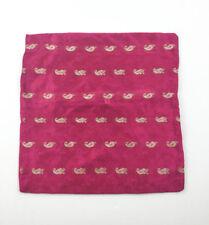 Sari cushion cover hot pink & gold 42x42cm square home decor boho