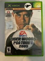 TIGER WOODS PGA TOUR 2005 - XBOX - COMPLETE W/ MANUAL - FREE S/H - (T8)