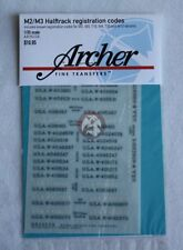 Archer 1/35 M2/M3 Half-track Registration Codes (assorted Styles Colors) AR35226