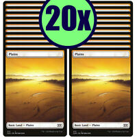 20x PLAINS 373 Double Masters Full Art Basic Land NM/LP MTG Magic the Gathering