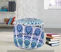 Mandala Peacock Cotton Ottomans Hippie Bohemian Seating Moroccan Footstools Art