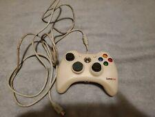 Xbox 360 GameStop Video Game Controller BB-070 W/ Breakaway USB Adapter - White