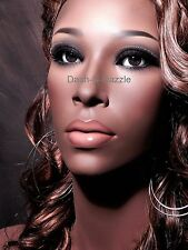 Female mannequin wig bust BROWN GLASS EYES!