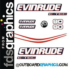 Evinrude 90hp E-TEC support moteur décalques/kit autocollant