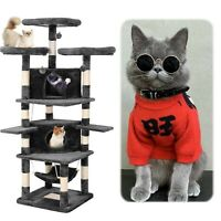 """75"""" Cat Tree Tower Condo Home Scratching Post Sisal Kitty Climbing Furniture US"""