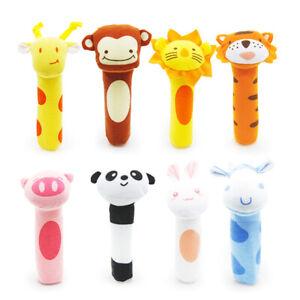 FM_ LN_ FM_ Cartoon Panda Animal Baby Hand Grip BB Stick Rattle Squeaker Educati