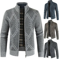 Fashion Mens Sweater Coat Thickening Warm Zipper Cardigan Long Sleeve Outwear B