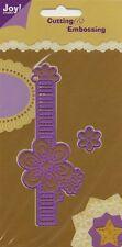 Joy Crafts Die Cutting Embossing Stencils Ribbon Border Flower 6002/0043 2pcs