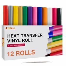 Htv Bundle Rolls Heat Transfer Vinyl For T Shirts 12pack 12 X 5ft Iron On Film