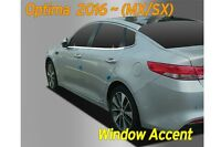 Window Accent Molding Chrome Garnish 4Pcs Silver B257 for KIA Optima 2016~2020