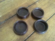 Vintage 1930's 1940's Furniture Rest Brown Bakelite Sofa Chair Feet Cups x 4