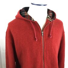 RALPH LAUREN Polo Sport, Red Wool Polyester Blend HOODIE Coat, Size XL