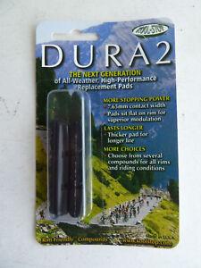 Kool Stop Dura 2 insert brake pads, black, all weather, fit Shimano calipers