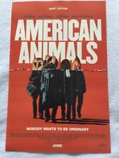 "AMERICAN ANIMALS - 11""x17"" Original Promo Movie Poster MINT 2018 Evan Peters"