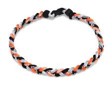 Collana SPORTIVO Twisted Rope Tornado TITANIO Luce Da Baseball Nero Bianco Arancione