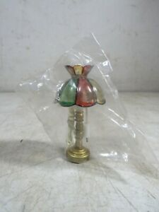 Vintage 1970's Electric 12 Volt Tiffany Style Dollhouse Table Lamp Brass NOS