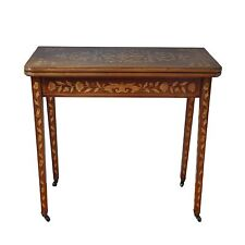 Antique Dutch Fold Over Table w/Satin Wood Inlay - Exquisite!