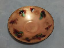 Enamel on Copper Decorated Dish signed by Helen Lautman