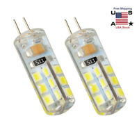 1Pair G4 Led Bulb Light 3W 12V White SMD 24Leds Lamp Replace Halogen Dimmable