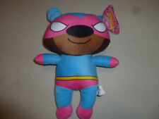 NEW W TAG SUPER HERO TEDDY BEAR PLUSH SUGAR LOAF TOYS  NWT TOY BLUE PINK STUFFED