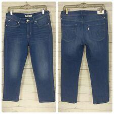 ~X~ LEVI'S BLUE JEANS ~X~ Women's Sz 10 Cropped Skinny Medium Wash Denim