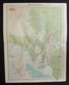 Antique Map: South Australia by John Bartholomew, Times Atlas, 1920