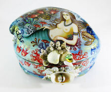 "Sale Discount Russian Lacquer box Kholui ""Mermaid"" Pearl Hand Painted #46-1"