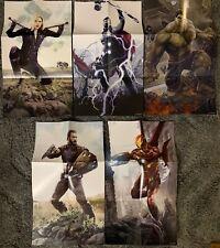 Marvel Avengers 15.5X9 carteles producto exclusivo de Walmart por AJ frena Thor Iron Man Hulk