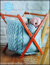 Knitting Pattern CABLE CRAFT STORAGE KNITTING BAG Project Holder WOOL HOLDALL
