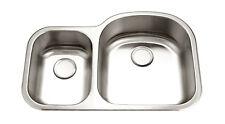 KE Premium 16G Offset Double Bowl Undermount Stainless Steel Kitchen Sink 30/70