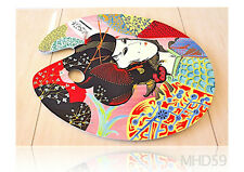 "Palette or Service Tray ""GEISHA"" Oil + Lacquer SPECIAL Collection JAPANESE ART"