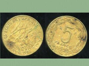 AFRIQUE CENTRALE  5  francs 1982