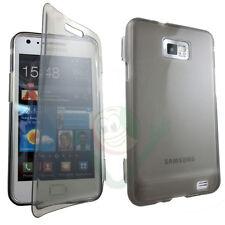 Custodia Jelly Touch cover nero fumè trasparente pr Samsung Galaxy S2 i9100 flip
