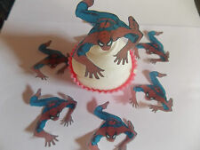 12 **PRECUT** Spiderman Edible Butterflies cake/cupcake toppers
