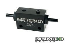 "Improved Racing Inline Oil Sensor Manifold Block, 3/8"" Hose Barb"
