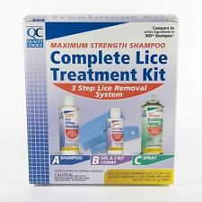 Complete Lice Treatment Kit Gel Rinse Nit Comb Spray Kills Eggs Shampoo Quality
