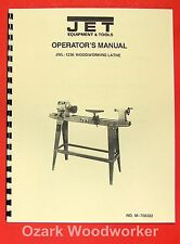 Jetasian Jwl 1236 Wood Lathe Operators Amp Parts Manual 0377