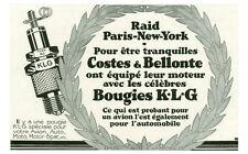 Publicité ancienne voiture Bougie KLG 1930