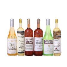 Set of 6Pcs Colorful Wine Bottles Miniature For 1:12 Dollhouse Kitchen Decor NEW