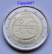 Spanje 2 euro 10 jaar EMU 2009 UNC