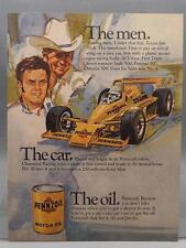 Vintage Magazine Ad Print Design Advertising Pennzoil Motor Oil