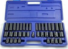 "38pc 1/2"" & 3/8""  Deep Shallow Metric AF Sockets Air Impact Socket Set  SS128"