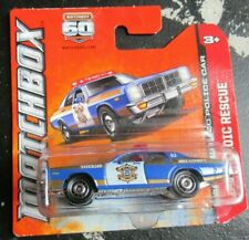 Matchbox #110 '78 Dodge Monaco Police Car Blue Sheriff Short Card Heroic Rescue