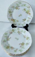 Hutschenreur Selb Bavaria Plates maple Leaf 6 Dessert/Bread Plates 6 1/4 in