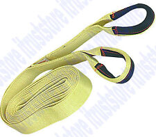 20ft Double loop Lifting Strap Sling Winch Pulling Load Tow Rope Puller 4000 lbs