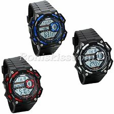 Men's Army Silicone Digital LED Waterproof Shockproof Sports Watches Wristwatch