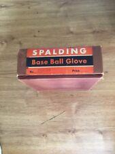 Antique/Vintage Spalding full web baseball glove With Rare Box