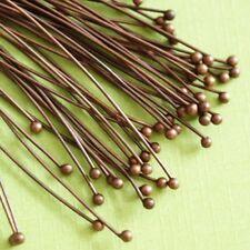 50pcs Antique Copper Finish Copper Ball Pins (50mm)