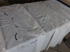 nappe + 8 serviettes, brodées main